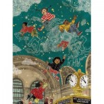 Puzzle  New-York-Puzzle-SW2012 XXL Pieces - Transit Posters - Starbright
