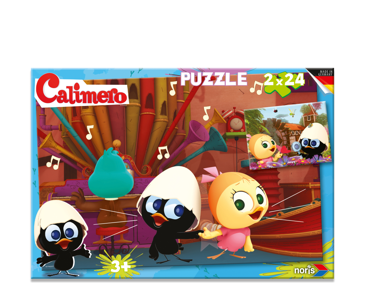 2 Jigsaw Puzzles - Calimero 24 and 24 piece jigsaw puzzle