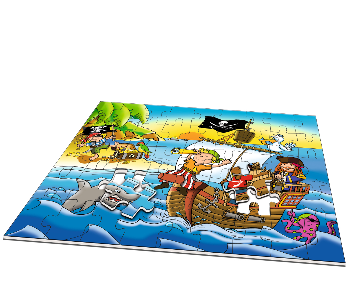 Floor puzzle pirates noris 6060 34960 45 pieces jigsaw for 100 piece floor puzzles