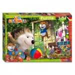 Noris-6060-38052 2 Jigsaw Puzzles - Leo the Mouse