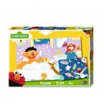 Noris-6060-38062 2 Puzzles - Sesame Street