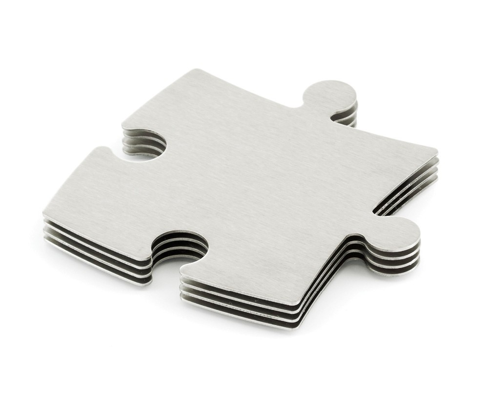 Puzzle 4 Metal Coasters Cook 005 4 Pieces Various