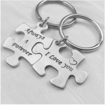 Puzzle  Key-004 Keychain - Always & Forever / I Love You