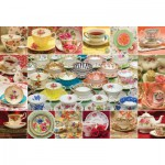 Puzzle  Cobble-Hill-50706 Teacup Collection