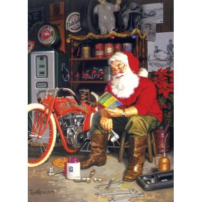 Puzzle Cobble-Hill-51698 Tom Newsom : Santa's Flying Merkel
