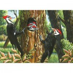 Puzzle  Cobble-Hill-51719 Pileated Woodpeckers
