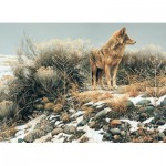 Puzzle  Cobble-Hill-51768 Robert Bateman : Coyote in Winter Sage
