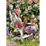 Puzzle  Cobble-Hill-51786-80090 Summer Adirondack Birds
