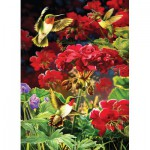Puzzle  Cobble-Hill-51787 Ruby Geraniums