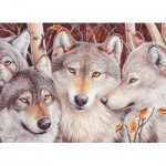 Puzzle  Cobble-Hill-51791 Wolf Crowd
