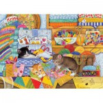 Puzzle  Cobble-Hill-51792 Crafty Kittens