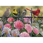 Puzzle  Cobble-Hill-51817 Rosemary Millette - Birds on a Fence