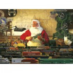 Puzzle  Cobble-Hill-52022 XXL Jigsaw Pieces - Tom Newsom : Santa and his Trains