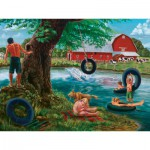 Puzzle  Cobble-Hill-52029 XXL Jigsaw Pieces - The Swimming Hole