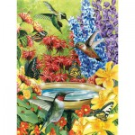Puzzle  Cobble-Hill-52032-85020 XXL Jigsaw Pieces - Hummingbird Garden