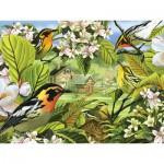 Puzzle  Cobble-Hill-52037 XXL Jigsaw Pieces - Blackburnian Warblers
