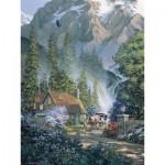 Puzzle  Cobble-Hill-52045 XXL Jigsaw Pieces - Douglas Laird : Mountain Hideaway