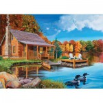 Puzzle  Cobble-Hill-52048 XXL Jigsaw Pieces - Loon Lake