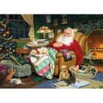 Puzzle  Cobble-Hill-52060 XXL Pieces - Tom Newsom : Santa's Nap Time