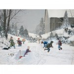 Puzzle  Cobble-Hill-52075 XXL Jigsaw Pieces - Douglas Laird : Snowball Fight