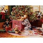 Puzzle  Cobble-Hill-52076 XXL Jigsaw Pieces - Ron Bayens : Christmas Morning