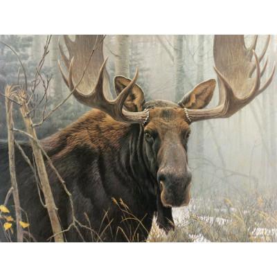 Puzzle Cobble-Hill-52080 XXL Jigsaw Pieces - Robert Bateman : Bull Moose