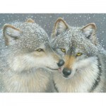 Puzzle  Cobble-Hill-52087 XXL Jigsaw Pieces - Kathy Goff - Wolf Kiss