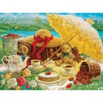 Puzzle  Cobble-Hill-52089 XXL Jigsaw Pieces - Janet Kruskamp - Teddy Bear Picnic
