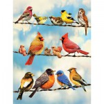 Puzzle  Cobble-Hill-52093 XXL Jigsaw Pieces - Birds on a Wire