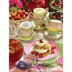 Puzzle  Cobble-Hill-52095 XXL Jigsaw Pieces - Strawberry Tea