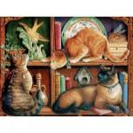 Puzzle  Cobble-Hill-52096 XXL Jigsaw Pieces - Cat Shelf