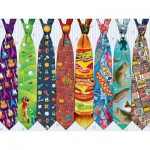 Puzzle  Cobble-Hill-52097 XXL Jigsaw Pieces - Father's Day Ties