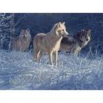 Puzzle  Cobble-Hill-52100 XXL Jigsaw Pieces - Daniel Smith - White Gold Wolves
