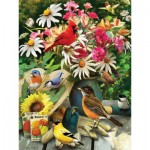Puzzle  Cobble-Hill-52101-85035 XXL Jigsaw Pieces - Greg Giordano - Garden Birds
