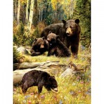 Puzzle  Cobble-Hill-52102 XXL Jigsaw Pieces - Greg Giordano - Bears