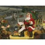 Puzzle  Cobble-Hill-52105 XXL Jigsaw Pieces - Tom Newsom - Santa's Checklist