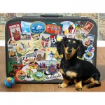 Puzzle  Cobble-Hill-52107 XXL Jigsaw Pieces - Dachshund 'Round the World