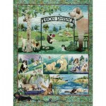 Puzzle  Cobble-Hill-52109 XXL Jigsaw Pieces - McKenna Ryan - Dog Park