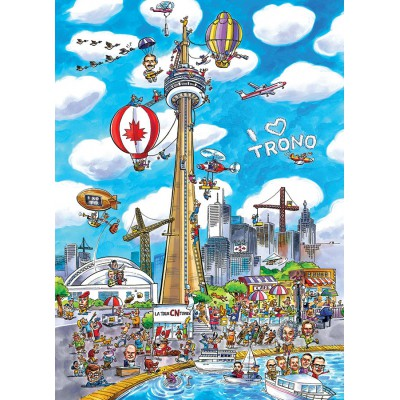 Puzzle Cobble-Hill-53502 DoodleTown: Toronto
