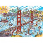 Puzzle  Cobble-Hill-53504 DoodleTown: San Francisco