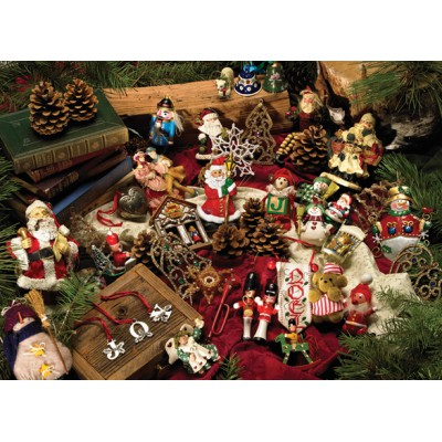 Puzzle Cobble-Hill-54323 XXL Jigsaw Pieces - Christmas Ornaments