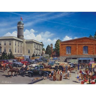 Puzzle Cobble-Hill-54330 XXL Jigsaw Pieces - Lance Russwurm : Farmers' Market