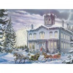 Puzzle  Cobble-Hill-54333 XXL Jigsaw Pieces - Lance Russwurm : Christmas at Kilbride