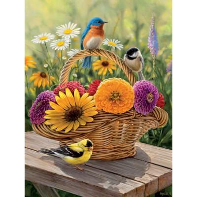 Puzzle Cobble-Hill-54339 XXL Jigsaw Pieces - Rosemary Millette: Summer Bouquet