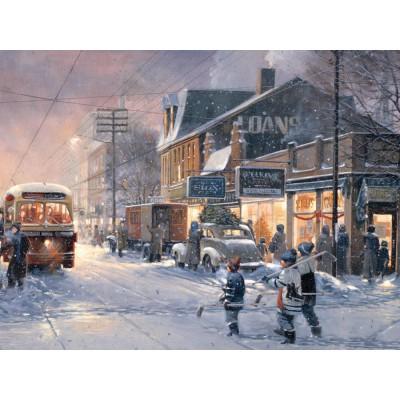 Puzzle Cobble-Hill-54341 XXL Jigsaw Pieces - XXL Jigsaw Pieces - Douglas Laird : Hockey Night