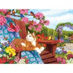Puzzle  Cobble-Hill-54342 XXL Jigsaw Pieces - Nancy Wernersbach - Spring Fling
