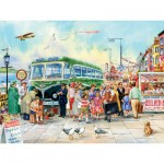 Puzzle  Cobble-Hill-54343 XXL Jigsaw Pieces - British Pier