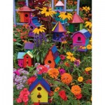 Puzzle  Cobble-Hill-54345 XXL Jigsaw Pieces - Janet Kruskamp - Birdhouses