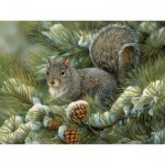 Puzzle  Cobble-Hill-54348 XXL Jigsaw Pieces - Rosemary Millette - Gray Squirrel