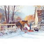 Puzzle  Cobble-Hill-54350 XXL Jigsaw Pieces - Douglas Laird - First Snow